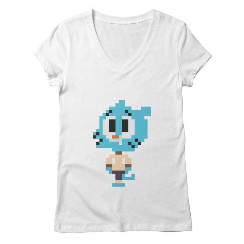 Amazing World! Women's V-Neck by Eu era pop - 8-bit pop culture :)
