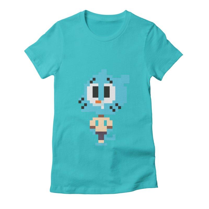 Amazing World! Women's Fitted T-Shirt by Eu era pop - 8-bit pop culture :)