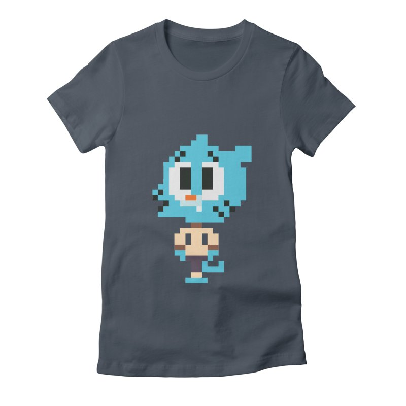 Amazing World! Women's Fitted T-Shirt by Eu era pop - 8-bit pop culture :)