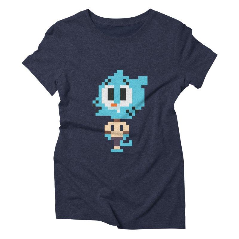 Amazing World! Women's Triblend T-shirt by Eu era pop - 8-bit pop culture :)