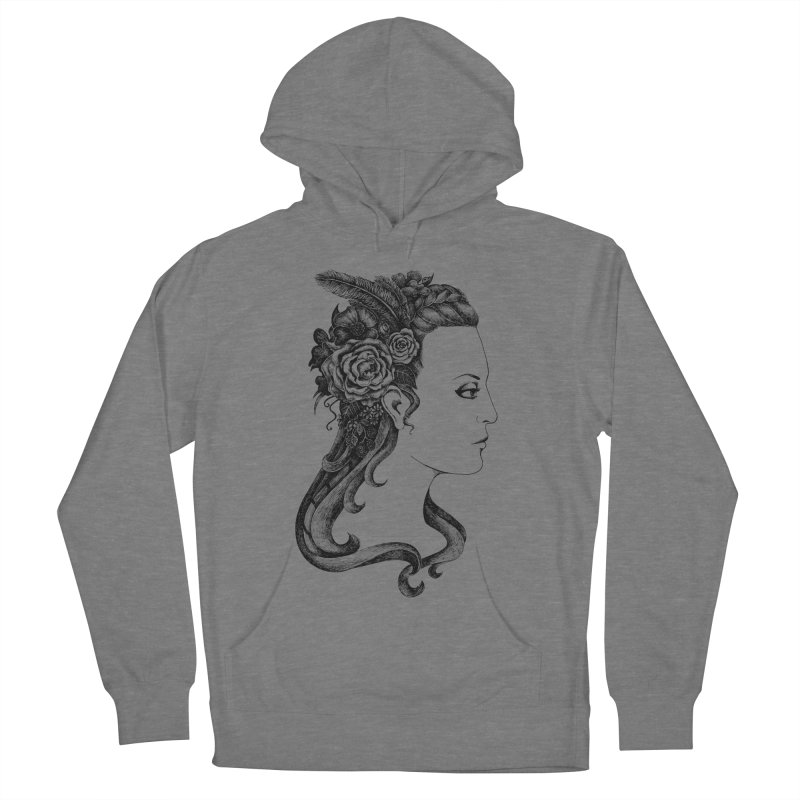 Black And White Beauty Women's French Terry Pullover Hoody by Eugenia Hauss's | Exiled Beauty