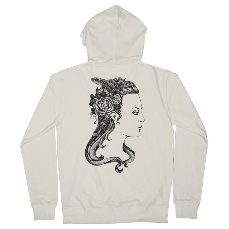 Black And White Beauty Women's Zip-Up Hoody by Eugenia Hauss's | Exiled Beauty