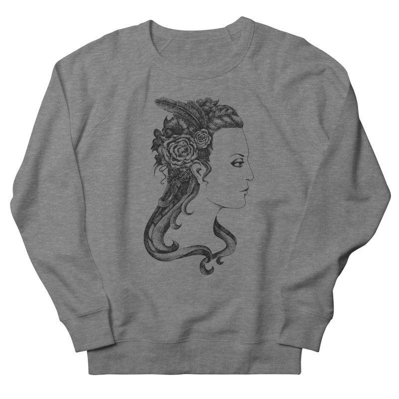 Black And White Beauty Women's French Terry Sweatshirt by Eugenia Hauss's | Exiled Beauty