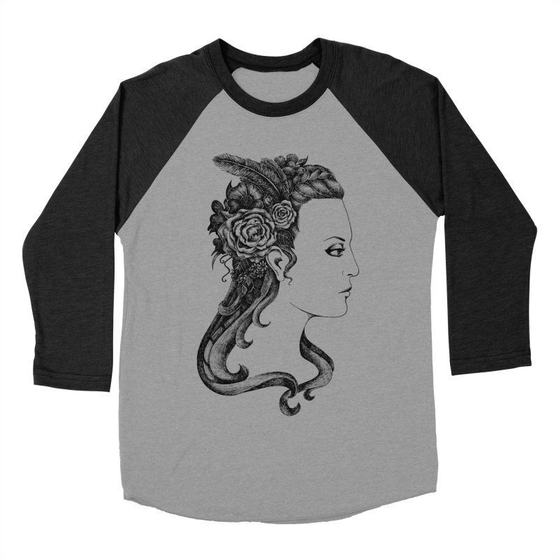 Black And White Beauty Women's Baseball Triblend Longsleeve T-Shirt by Eugenia Hauss's | Exiled Beauty