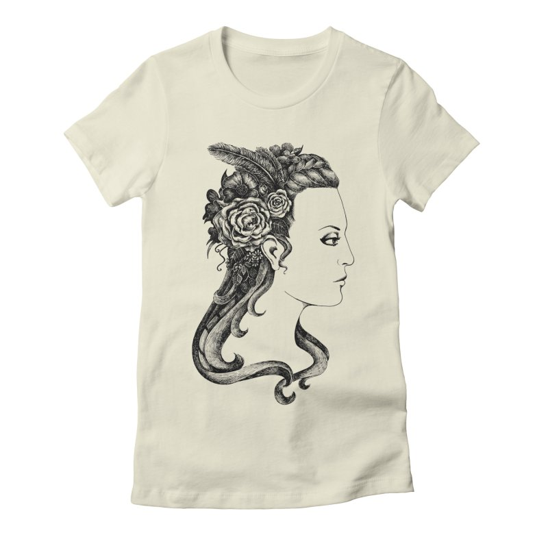 Black And White Beauty Women's Fitted T-Shirt by Eugenia Hauss's | Exiled Beauty