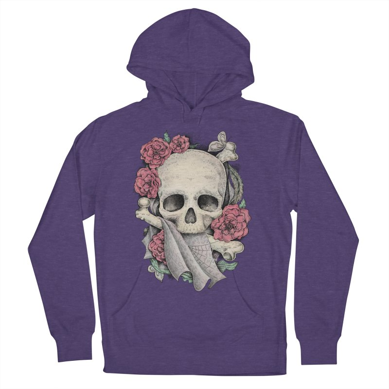 Memento Mori Women's French Terry Pullover Hoody by Eugenia Hauss's | Exiled Beauty