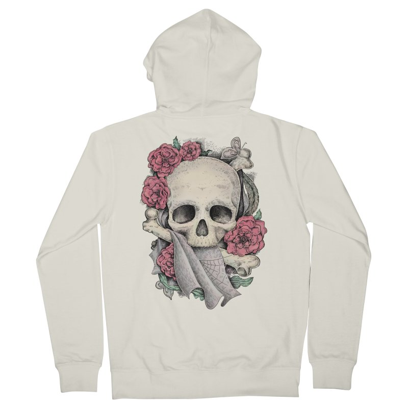 Memento Mori Men's Zip-Up Hoody by Eugenia Hauss's | Exiled Beauty