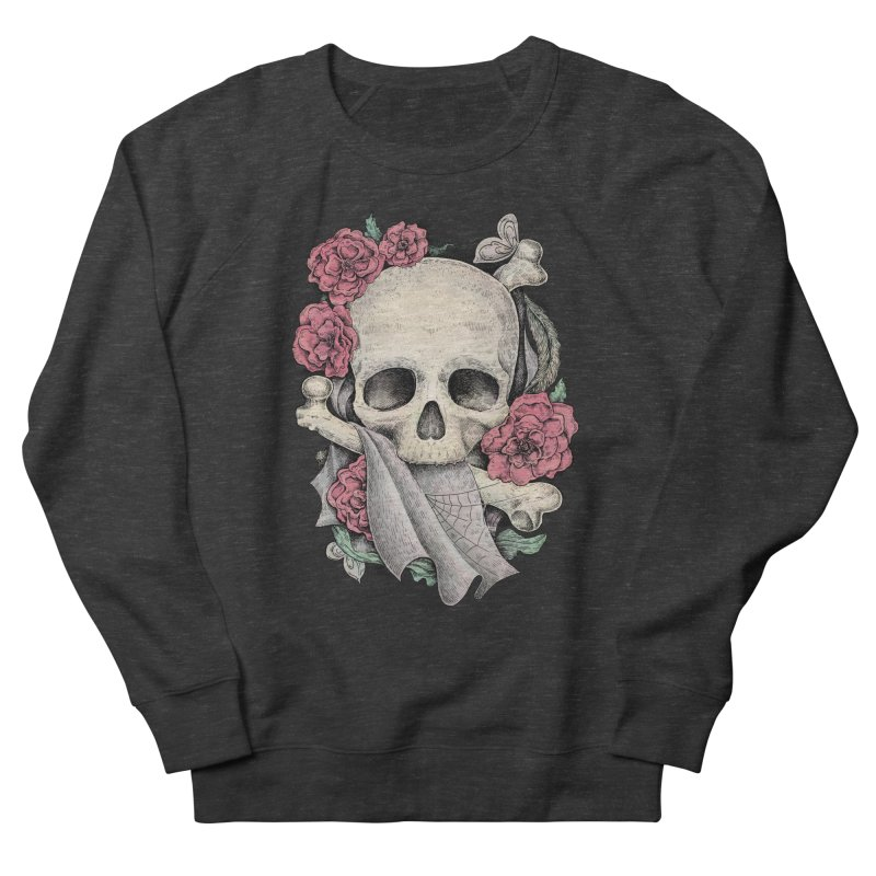 Memento Mori Men's French Terry Sweatshirt by Eugenia Hauss's | Exiled Beauty