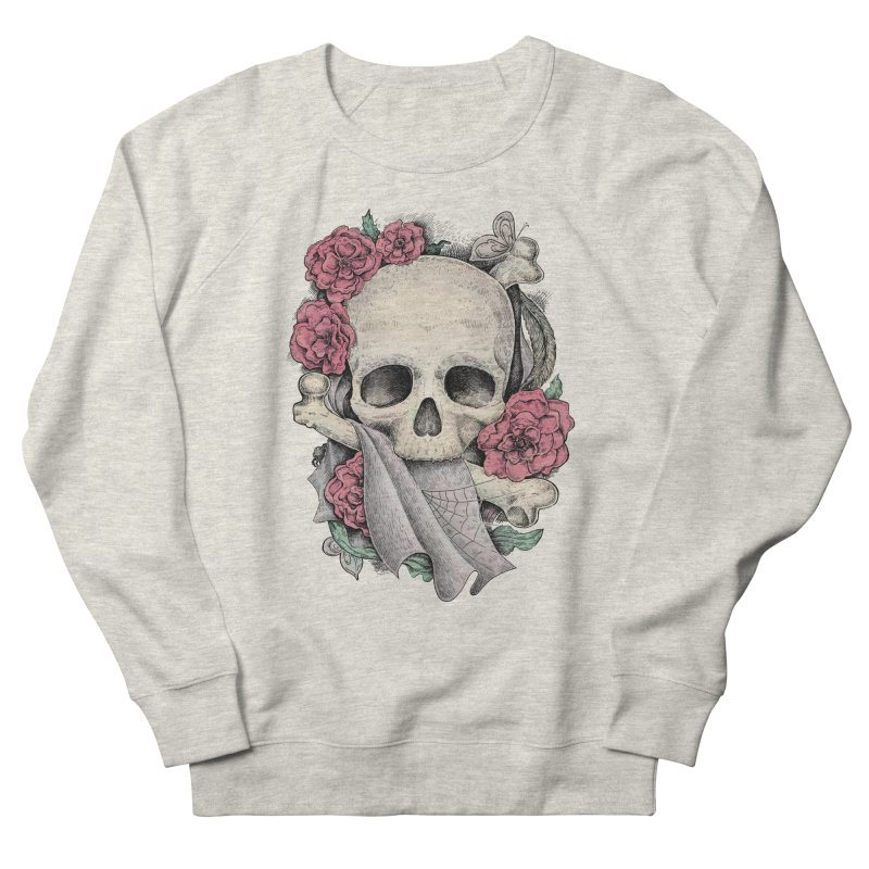 Memento Mori Men's French Terry Sweatshirt by Eugenia Hauss's   Exiled Beauty