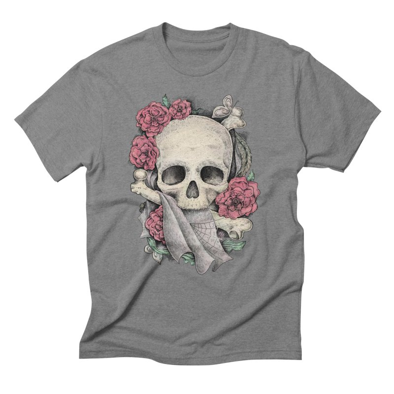 Memento Mori Men's Triblend T-Shirt by Eugenia Hauss's | Exiled Beauty