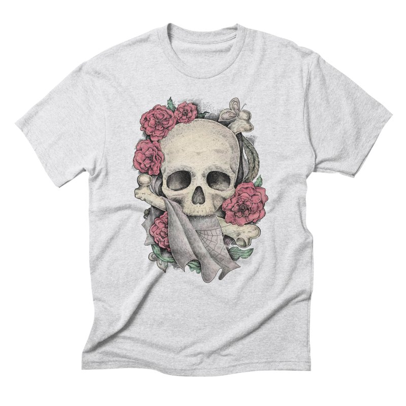 Memento Mori Men's Triblend T-Shirt by Eugenia Hauss's | Exiled Beauty