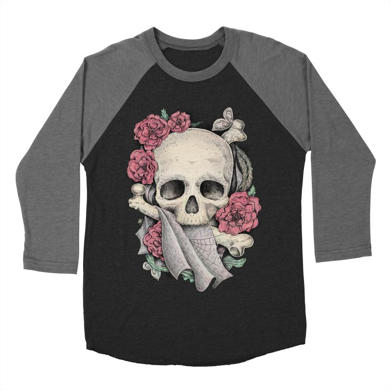 Memento Mori Men's Baseball Triblend T-Shirt by Eugenia Hauss's | Exiled Beauty