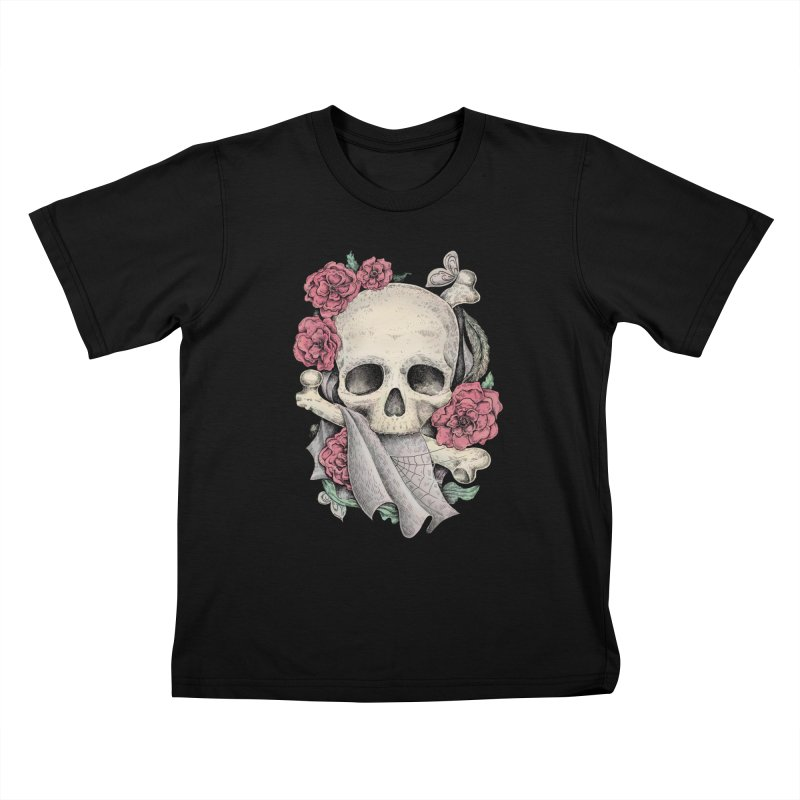 Memento Mori Kids T-shirt by Eugenia Hauss's   Exiled Beauty