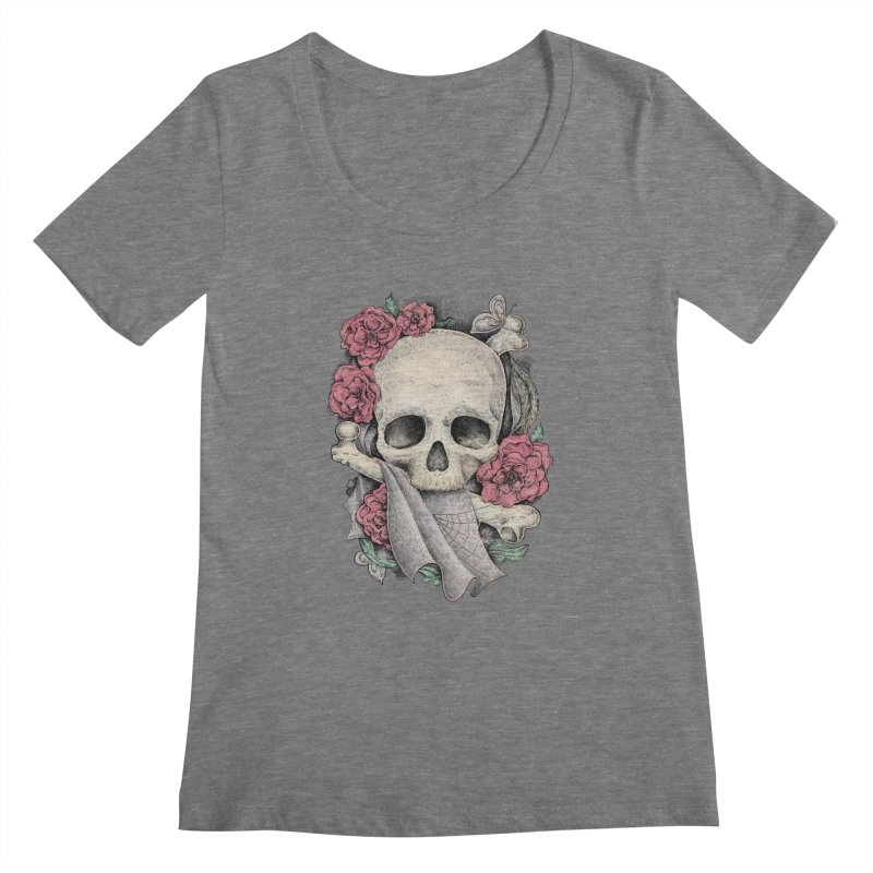 Memento Mori Women's Scoopneck by Eugenia Hauss's | Exiled Beauty