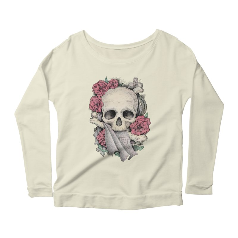 Memento Mori Women's Longsleeve Scoopneck  by Eugenia Hauss's | Exiled Beauty