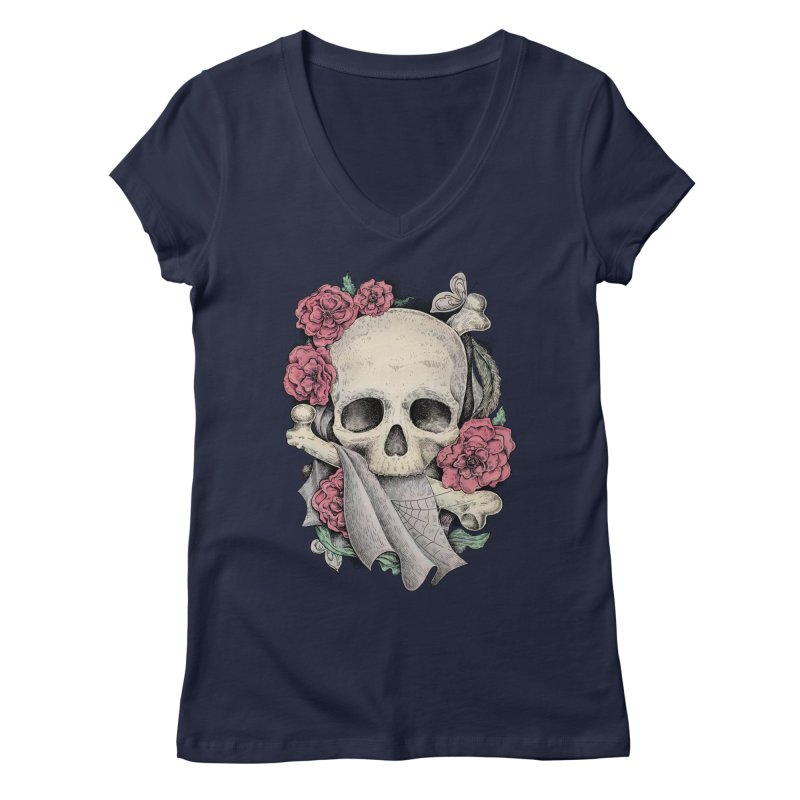 Memento Mori Women's Regular V-Neck by Eugenia Hauss's | Exiled Beauty