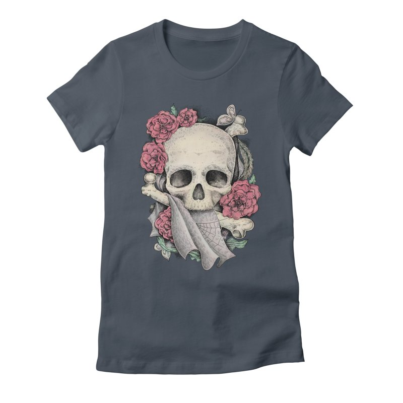 Memento Mori Women's Fitted T-Shirt by Eugenia Hauss's   Exiled Beauty