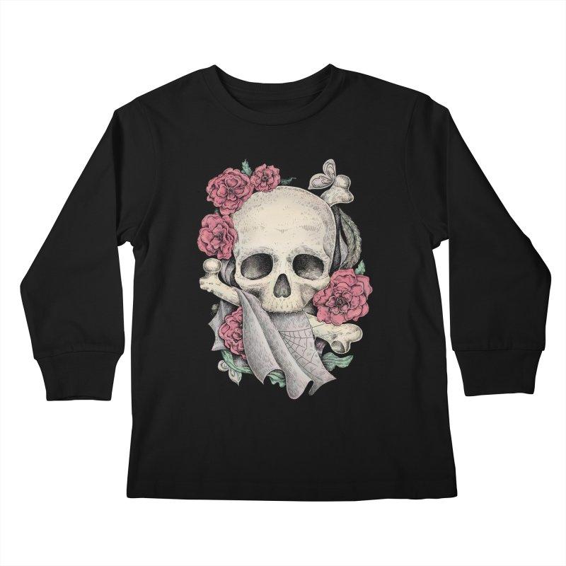 Memento Mori Kids Longsleeve T-Shirt by Eugenia Hauss's | Exiled Beauty