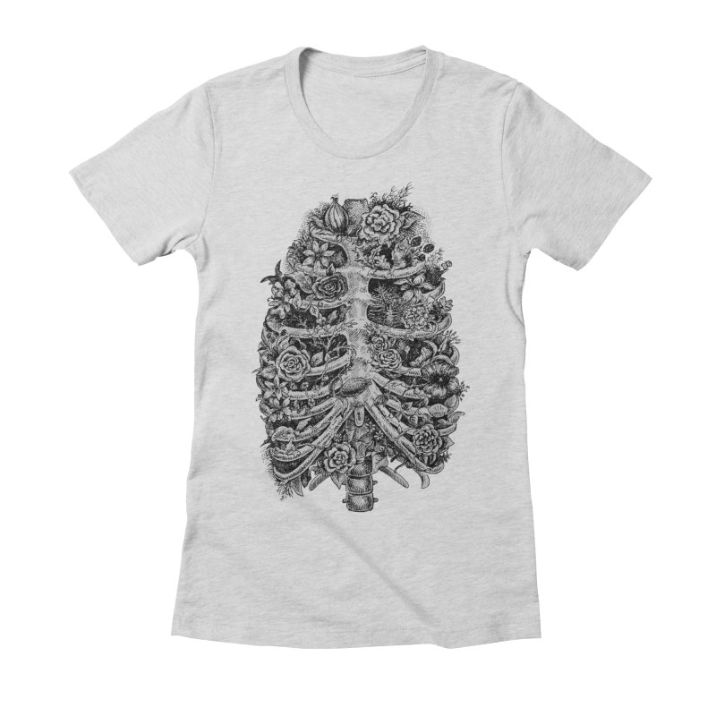 I can't breathe without you Women's Fitted T-Shirt by Eugenia Hauss's | Exiled Beauty