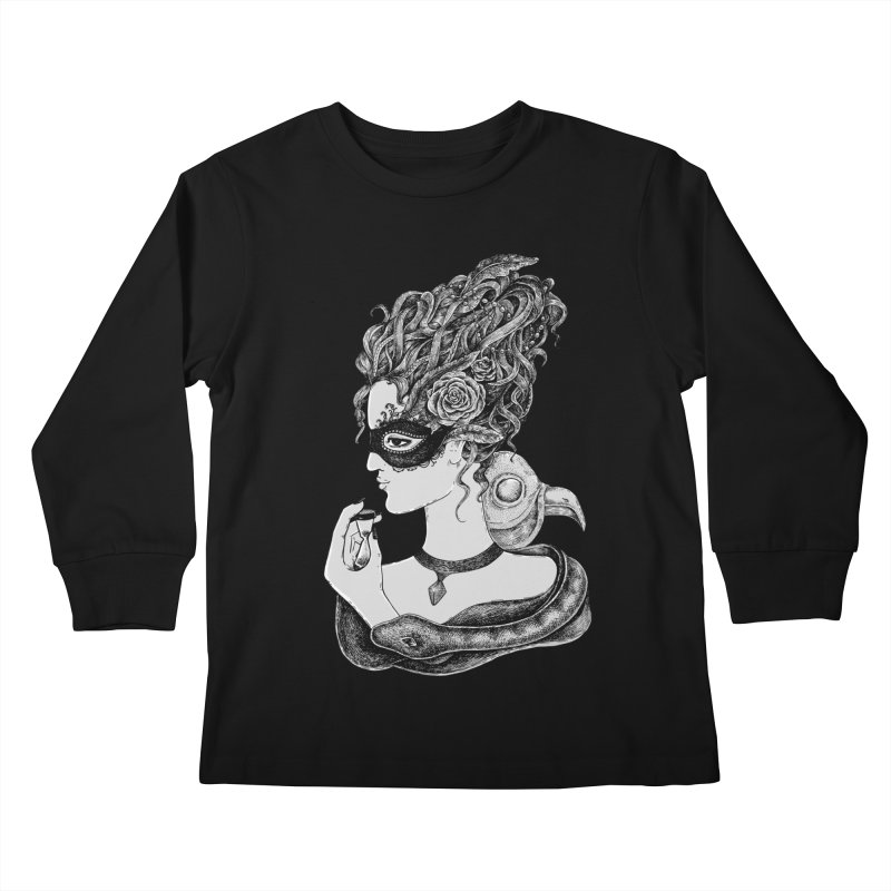 No Time To Waste Kids Longsleeve T-Shirt by Eugenia Hauss's | Exiled Beauty