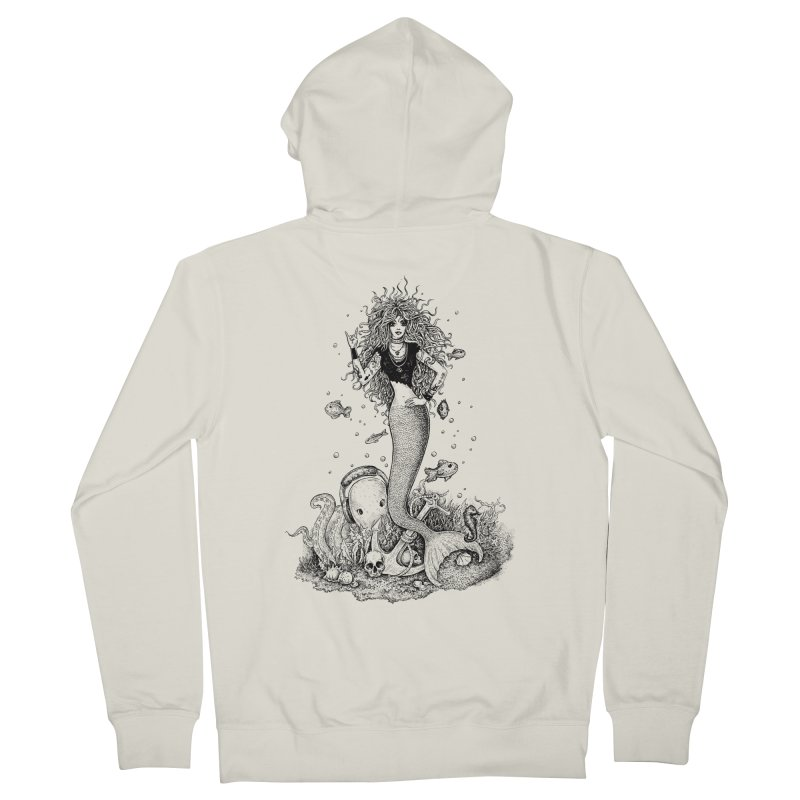 Rocking Mermaid Men's Zip-Up Hoody by Eugenia Hauss's | Exiled Beauty