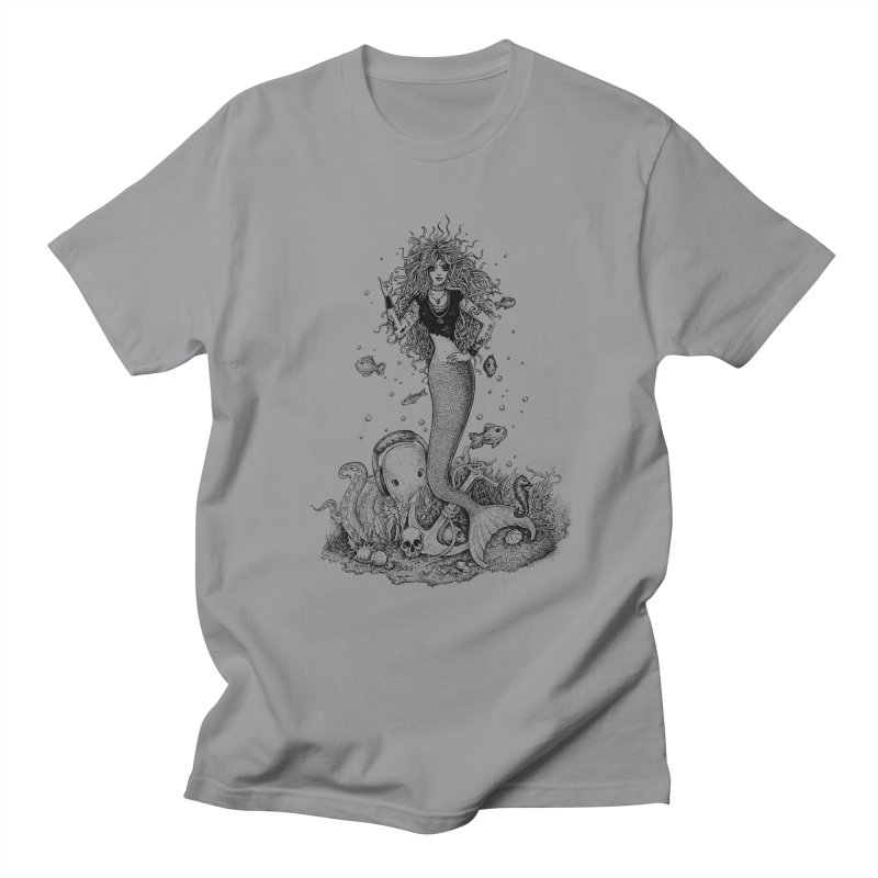 Rocking Mermaid Men's T-shirt by Eugenia Hauss's | Exiled Beauty