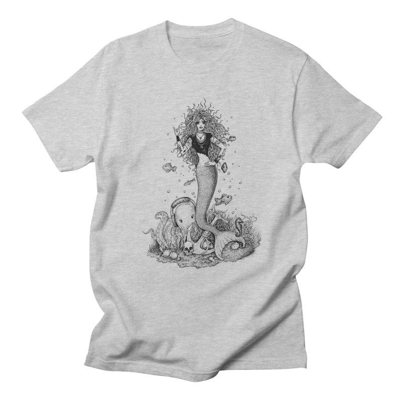 Rocking Mermaid Men's T-Shirt by Eugenia Hauss's | Exiled Beauty