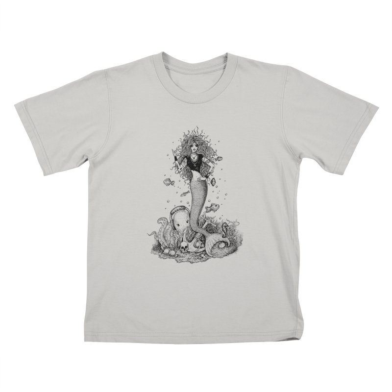 Rocking Mermaid Kids T-shirt by Eugenia Hauss's | Exiled Beauty