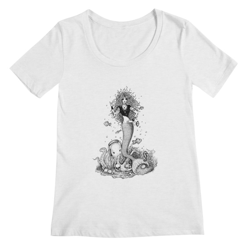 Rocking Mermaid Women's Regular Scoop Neck by Eugenia Hauss's | Exiled Beauty