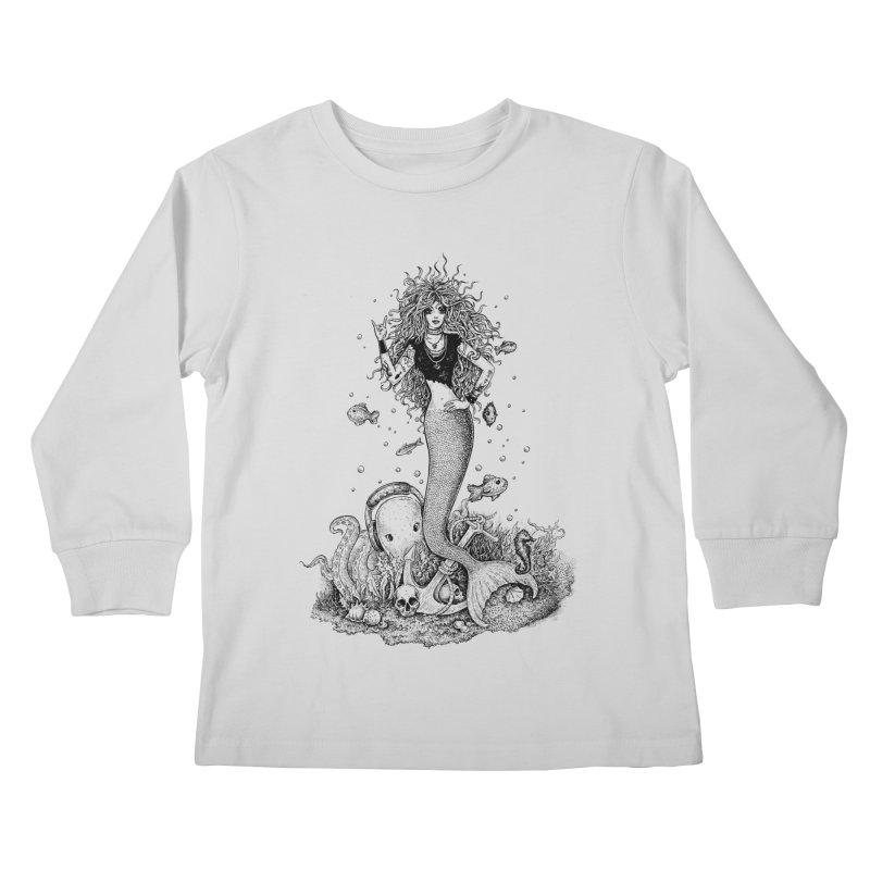 Rocking Mermaid Kids Longsleeve T-Shirt by Eugenia Hauss's | Exiled Beauty