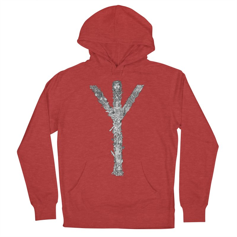 Algiz Men's French Terry Pullover Hoody by Eugenia Hauss's | Exiled Beauty