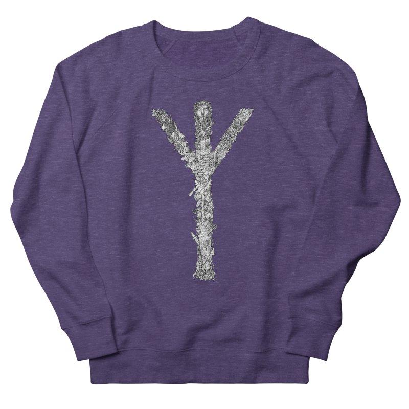 Algiz Men's French Terry Sweatshirt by Eugenia Hauss's | Exiled Beauty
