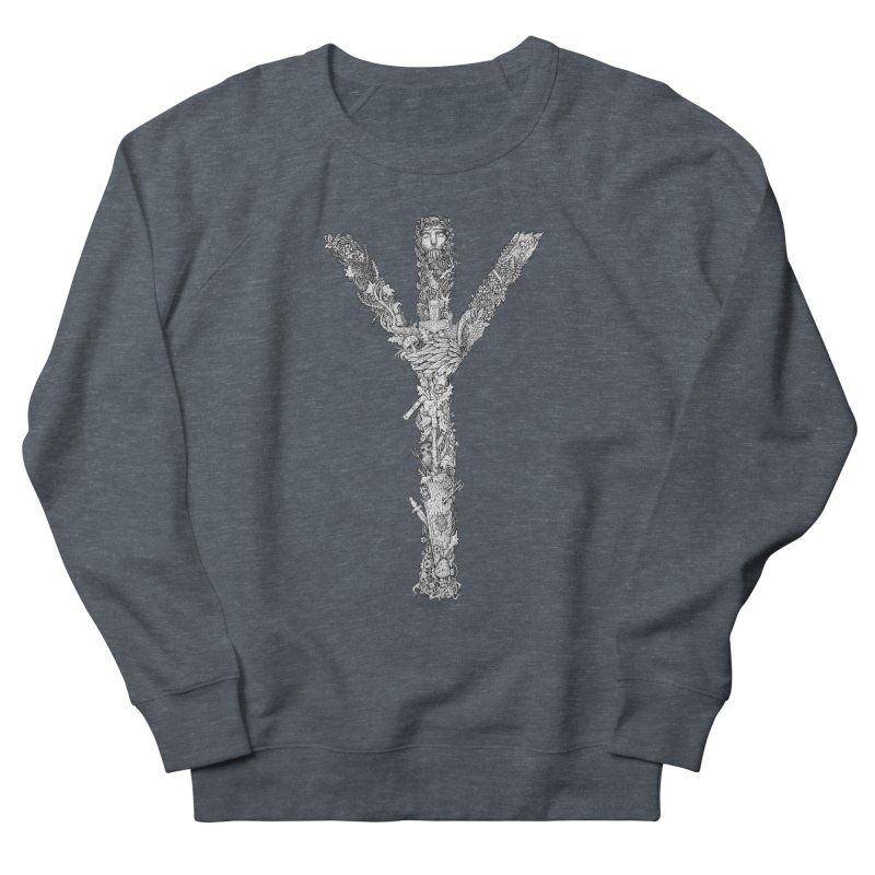 Algiz Men's French Terry Sweatshirt by Eugenia Hauss's | Exiled Beauty
