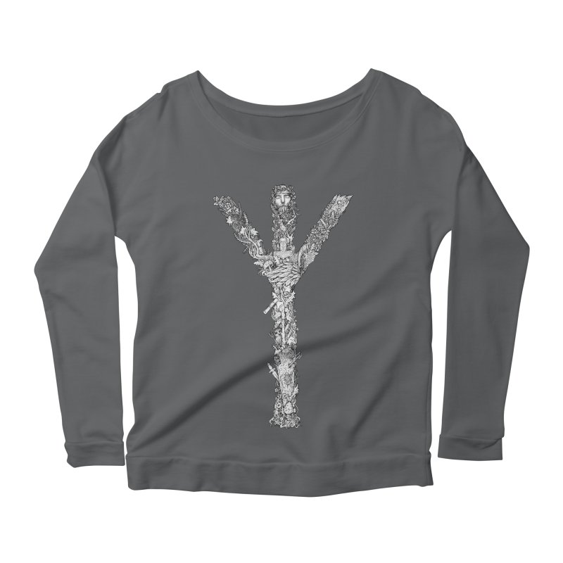 Algiz Women's Longsleeve Scoopneck  by Eugenia Hauss's | Exiled Beauty