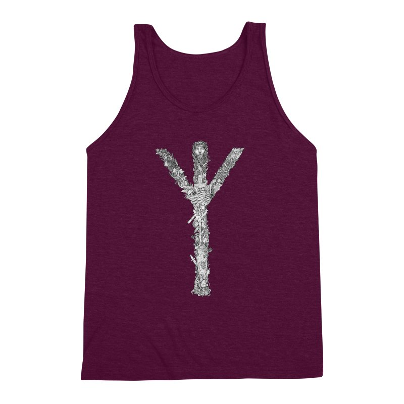 Algiz Men's Triblend Tank by Eugenia Hauss's | Exiled Beauty