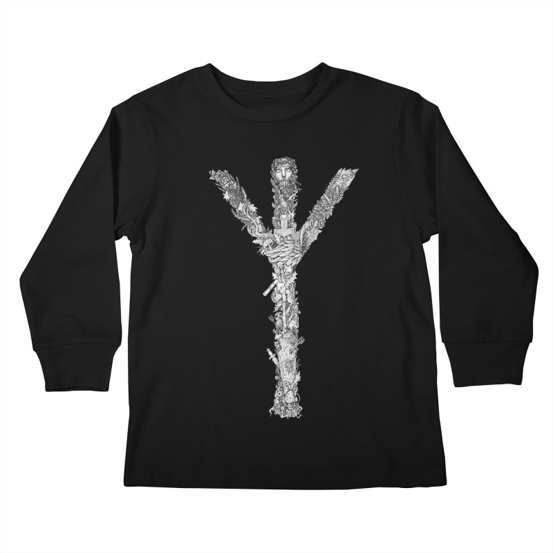 Algiz Kids Longsleeve T-Shirt by Eugenia Hauss's | Exiled Beauty