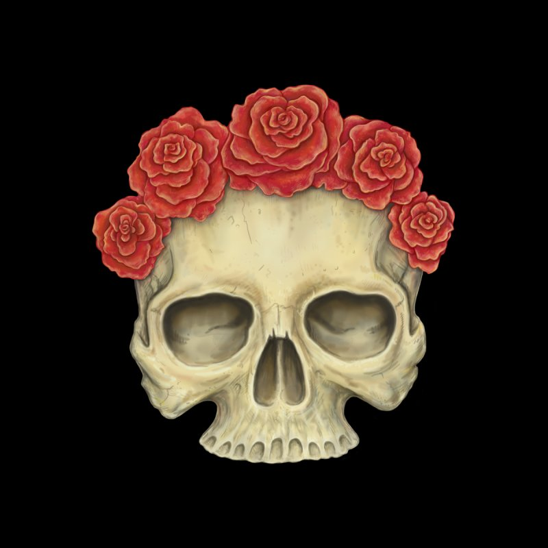 Skull And Roses Men's Baseball Triblend T-Shirt by Eugenia Hauss's | Exiled Beauty