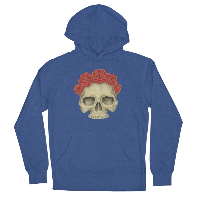 Skull And Roses Women's Pullover Hoody by Eugenia Hauss's | Exiled Beauty