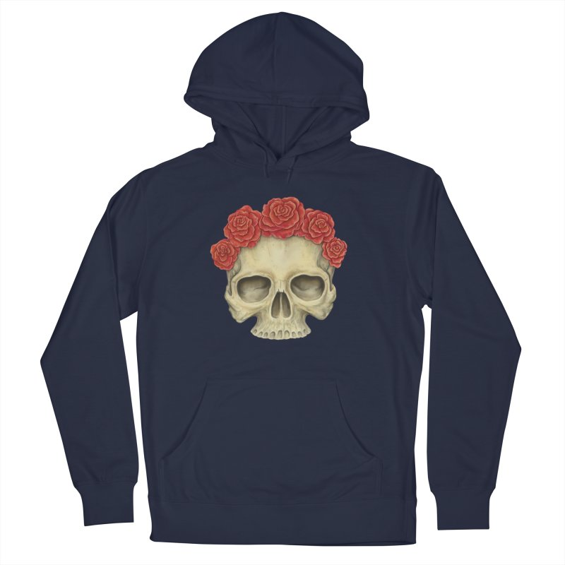 Skull And Roses Men's Pullover Hoody by Eugenia Hauss's | Exiled Beauty