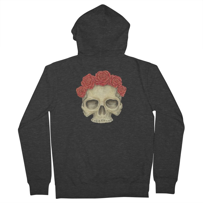Skull And Roses Women's Zip-Up Hoody by Eugenia Hauss's | Exiled Beauty