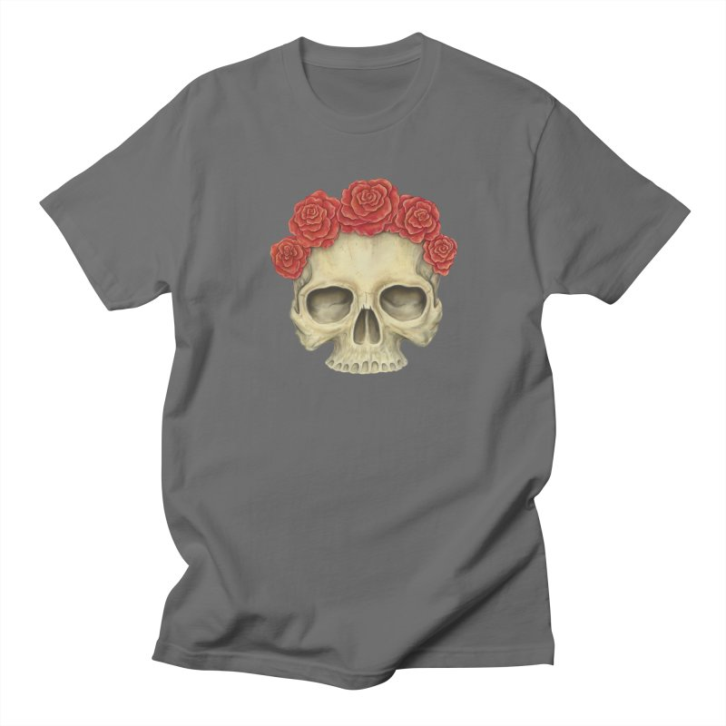 Skull And Roses Men's Regular T-Shirt by Eugenia Hauss's | Exiled Beauty