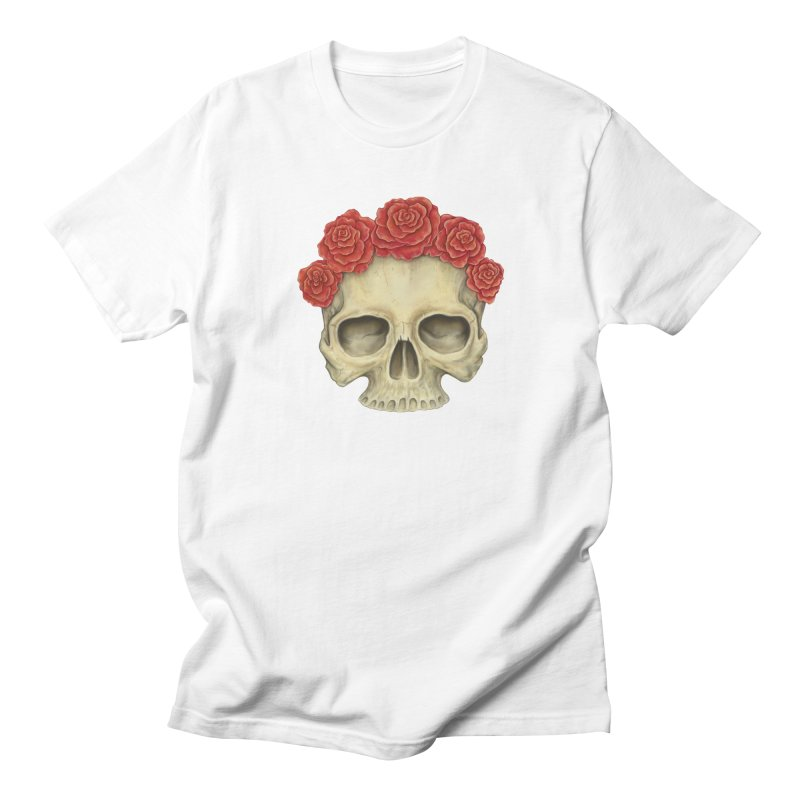 Skull And Roses Men's T-shirt by Eugenia Hauss's | Exiled Beauty
