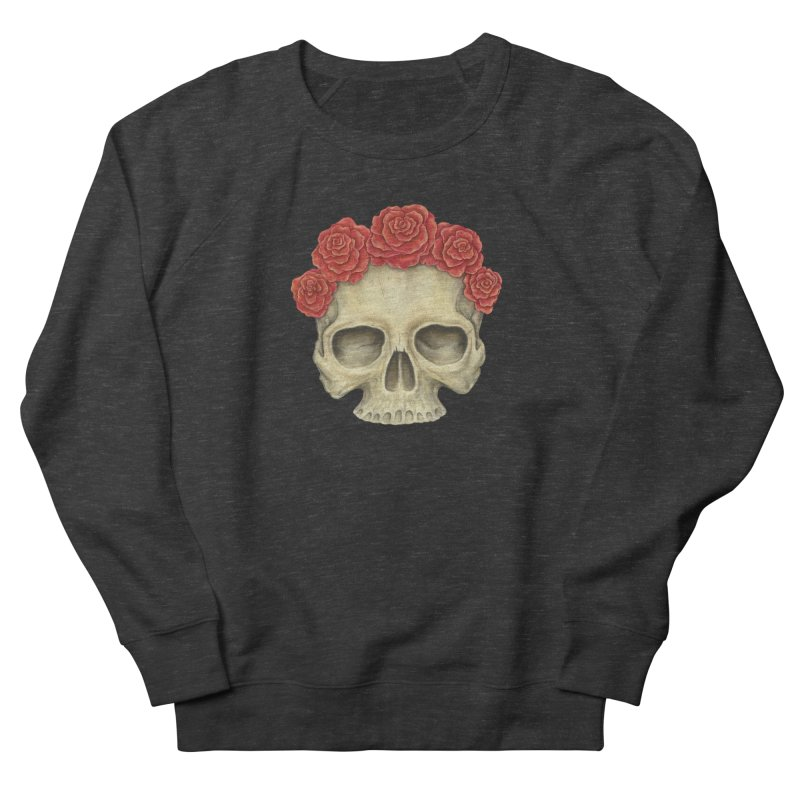 Skull And Roses Men's Sweatshirt by Eugenia Hauss's | Exiled Beauty