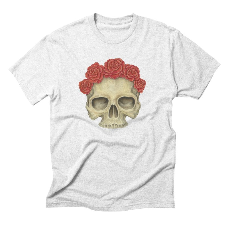 Skull And Roses Men's Triblend T-shirt by Eugenia Hauss's | Exiled Beauty