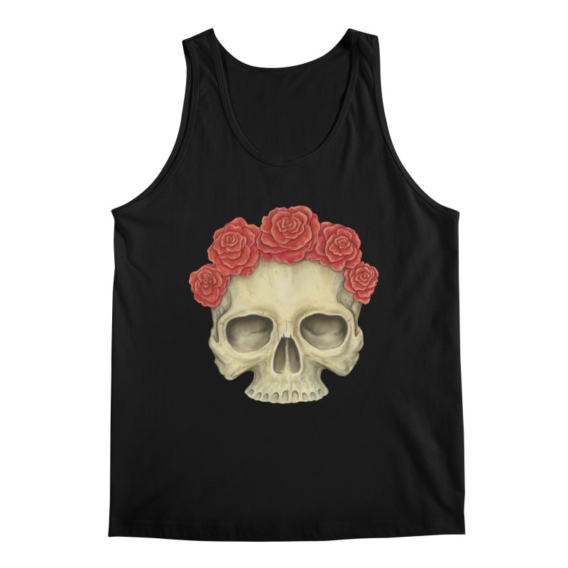 Skull And Roses Men's Regular Tank by Eugenia Hauss's | Exiled Beauty