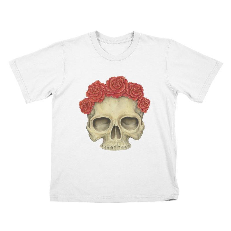 Skull And Roses Kids T-shirt by Eugenia Hauss's   Exiled Beauty
