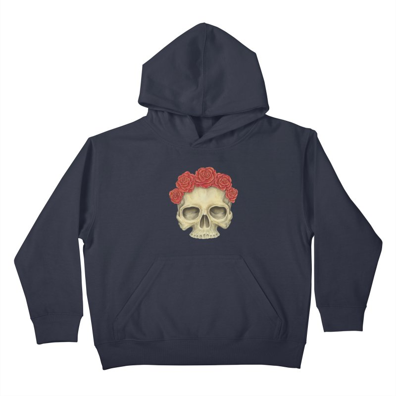 Skull And Roses Kids Pullover Hoody by Eugenia Hauss's | Exiled Beauty