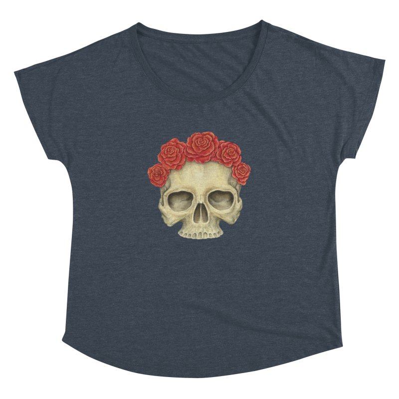 Skull And Roses Women's Dolman by Eugenia Hauss's | Exiled Beauty