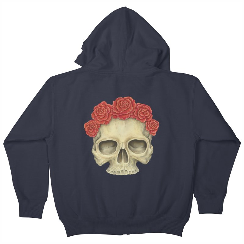 Skull And Roses Kids Zip-Up Hoody by Eugenia Hauss's | Exiled Beauty