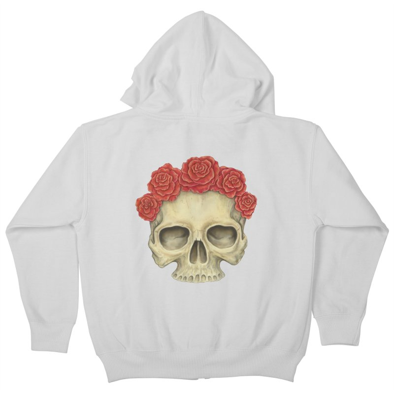 Skull And Roses Kids Zip-Up Hoody by Eugenia Hauss's   Exiled Beauty